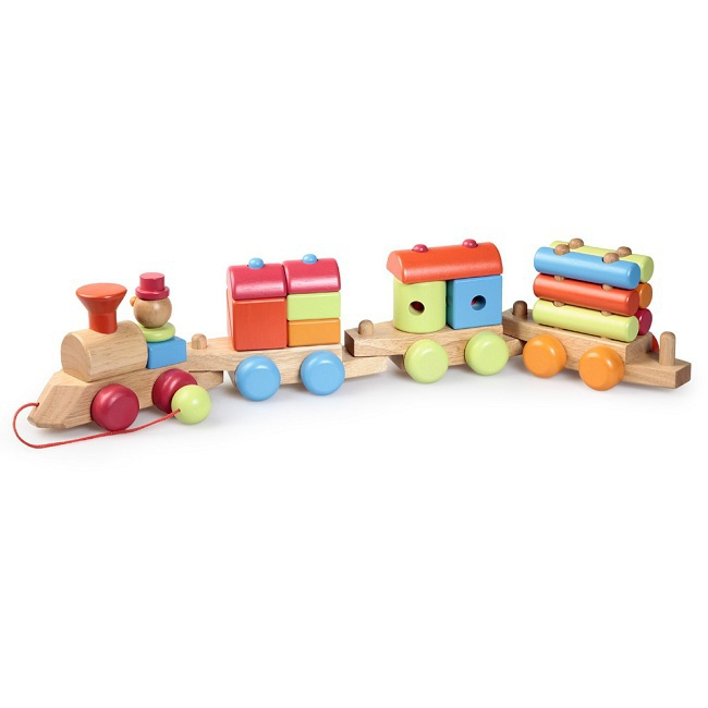 jouets jouets roulettes train en bois trainer rose milk. Black Bedroom Furniture Sets. Home Design Ideas