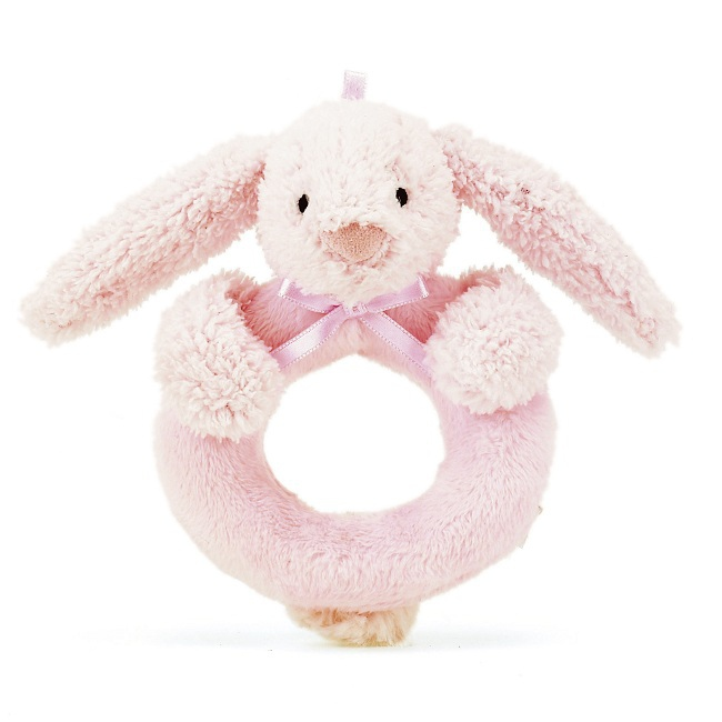 jouets doudous et peluches hochet lapin anneau rose rose milk. Black Bedroom Furniture Sets. Home Design Ideas