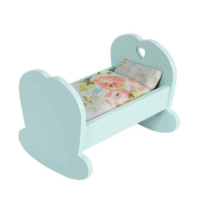 maileg mini berceau en bois bleu. Black Bedroom Furniture Sets. Home Design Ideas