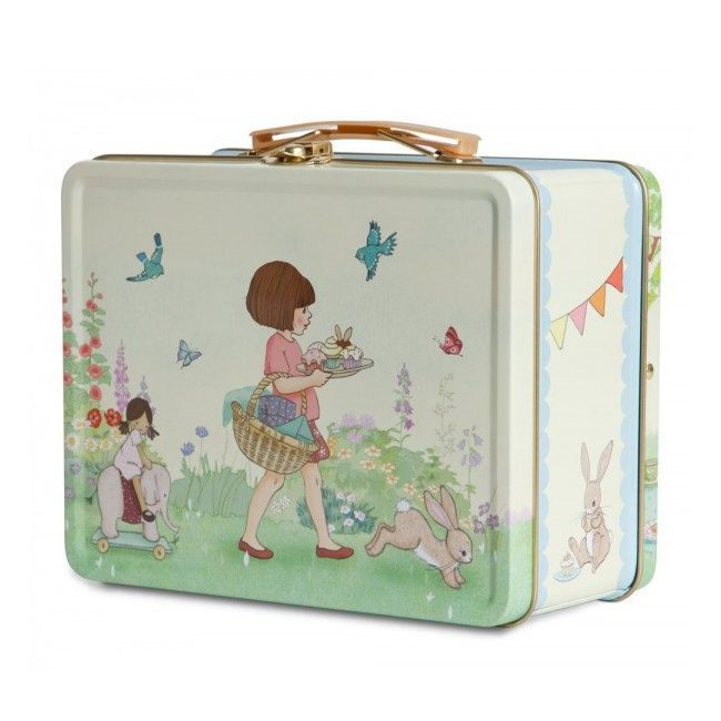 valise m tal lunchbox belle boo birthday party. Black Bedroom Furniture Sets. Home Design Ideas