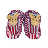 Chaussons Lapin avec Hochet Rayures
