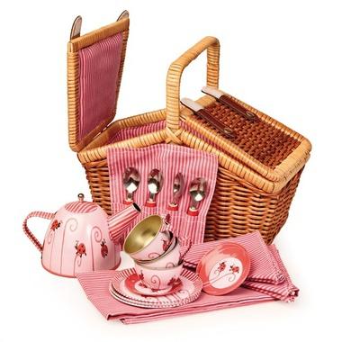 jouets jouets d 39 imitation panier d nette service th rose milk. Black Bedroom Furniture Sets. Home Design Ideas
