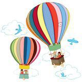 "Sticker Mural ""Hot Air Balloons"""