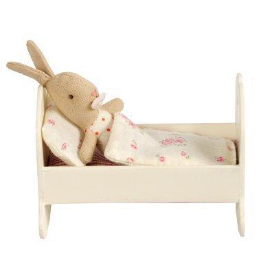 maileg mini berceau b b en bois blanc. Black Bedroom Furniture Sets. Home Design Ideas