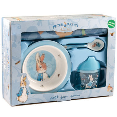 coffret repas peter rabbit b b. Black Bedroom Furniture Sets. Home Design Ideas