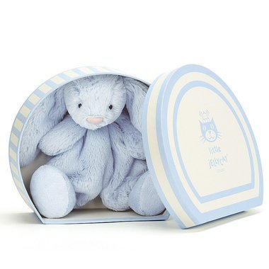 boubou bunny jellycat doudou lapin dans sa boite beige. Black Bedroom Furniture Sets. Home Design Ideas
