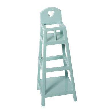 maileg mini chaise haute en bois bleu. Black Bedroom Furniture Sets. Home Design Ideas