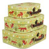 Set de 3 Valisettes Rétros Spring Forest Fox