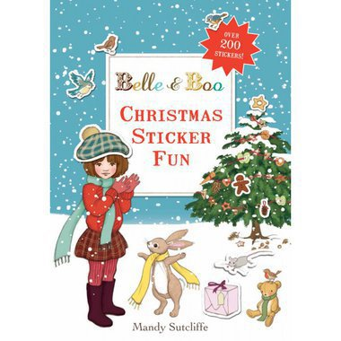 "Livre d'Autocollants en Anglais ""Christmas Fun"" Belle & Boo"