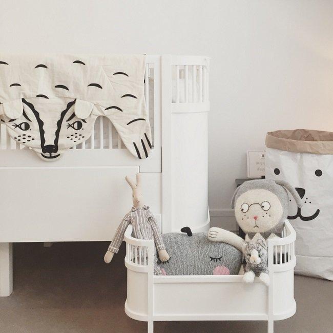 Smallstuff Lit de Poupée Design Scandinave Blanc