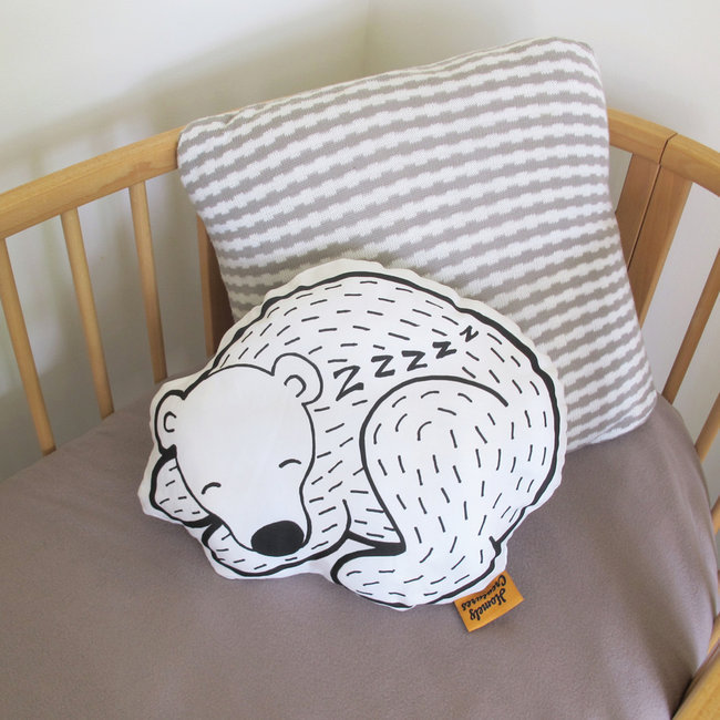 Homely Creatures Coussin Ours Endormi Sleeping Bear