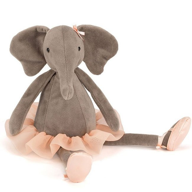 peluche el phant tutu jellycat dancing darcey. Black Bedroom Furniture Sets. Home Design Ideas