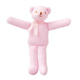Doudou Ours Hochet Rose
