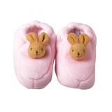 Chaussons Lapin avec Hochet Roses