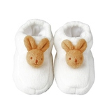 Chaussons Lapin avec Hochet Blancs