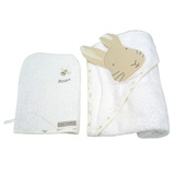 Cape de Bain + Gant de Toilette Peter Rabbit Blancs