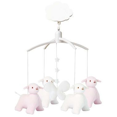 Mobile Musical Mouton Rose et Blanc