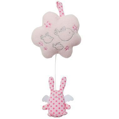 Nuage Musical Ange Lapin Rose