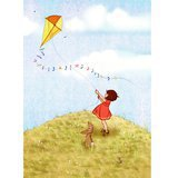 "Gravure ""Belle and Boo Fly a Kite"" (28x35cm)"