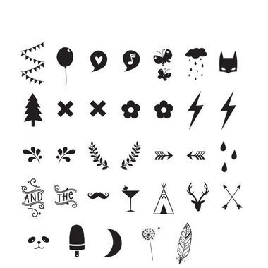 Set De Symboles Et Chiffres Pour Lightbox A Little Lovely