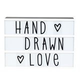 "Set de Lettres ""Hand Drawn"" pour Lightbox"