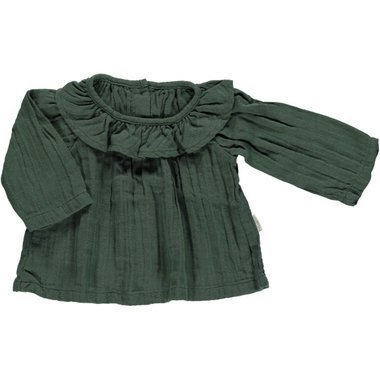 Blouse Col Volant - Sapin
