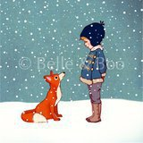 "Gravure ""Hello Mr Fox"" (25x25cm)"