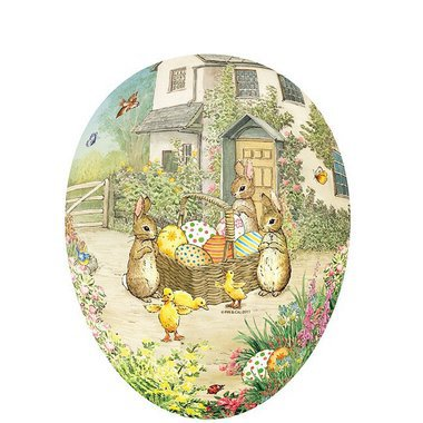 Oeuf de Pâques Vintage - Bunnies and Eggs
