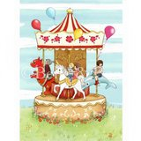"Gravure Belle and Boo ""Carnival Carousel"" (28x35cm)"
