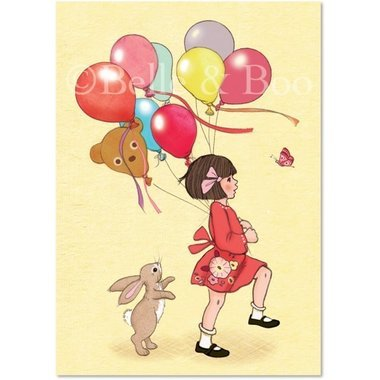 "Carte Postale ""Birthday Balloons"""