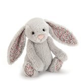 Peluche Lapin Gris Silver Blossom (18 cm)