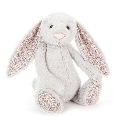 Peluche Lapin Gris Silver Blossom (31 cm)