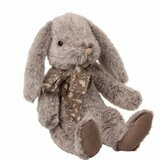 Peluche Lapin Fluffy Bunny (Large) - Gris